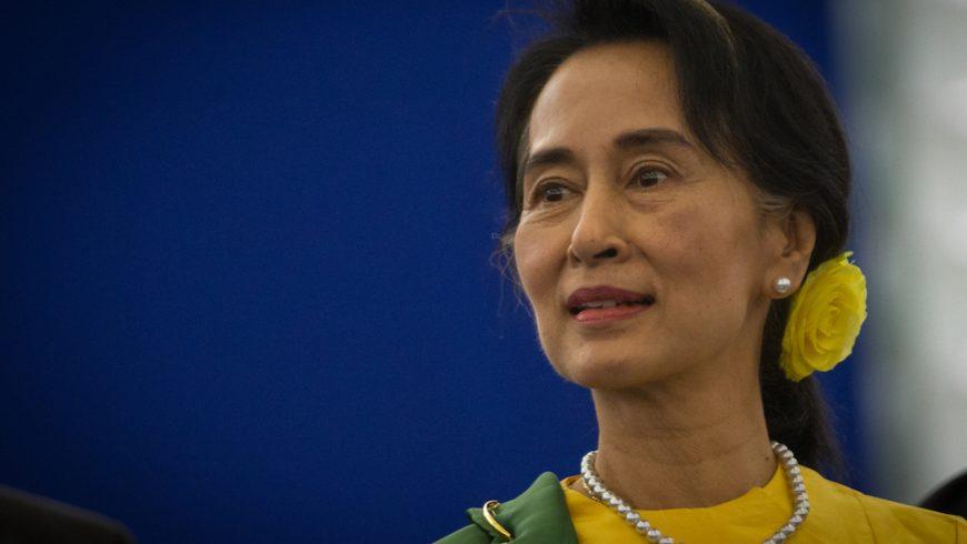 Aung San Suu Kyi at the European Parliament in Strasbourg