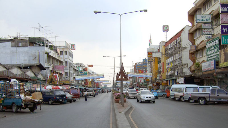 Naresuan-Road in Ayutthaya