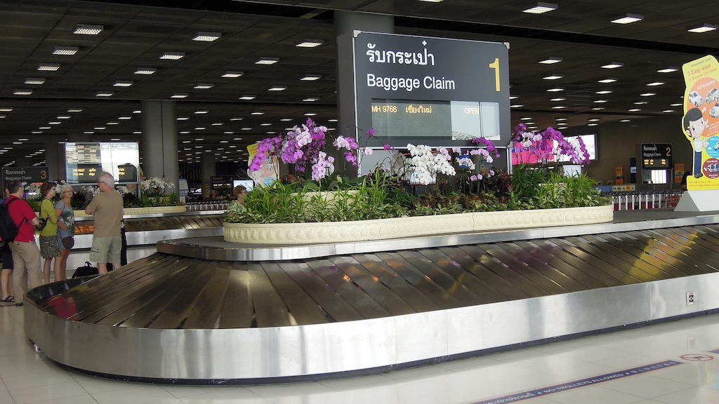 Baggage carousel at Suvarnabhumi Airport