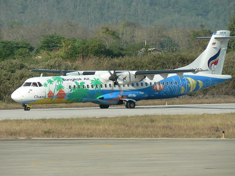 Bangkok Airways ATR-72 at Luang Prabang airport