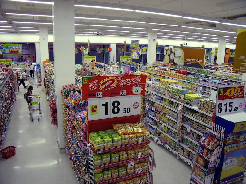 Inside Big C Supercenter, supermarket in Bangkok