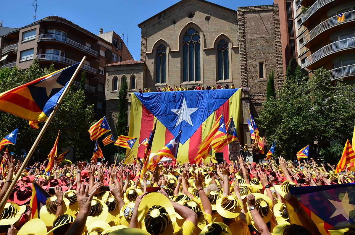 Estelada flag in Manresa