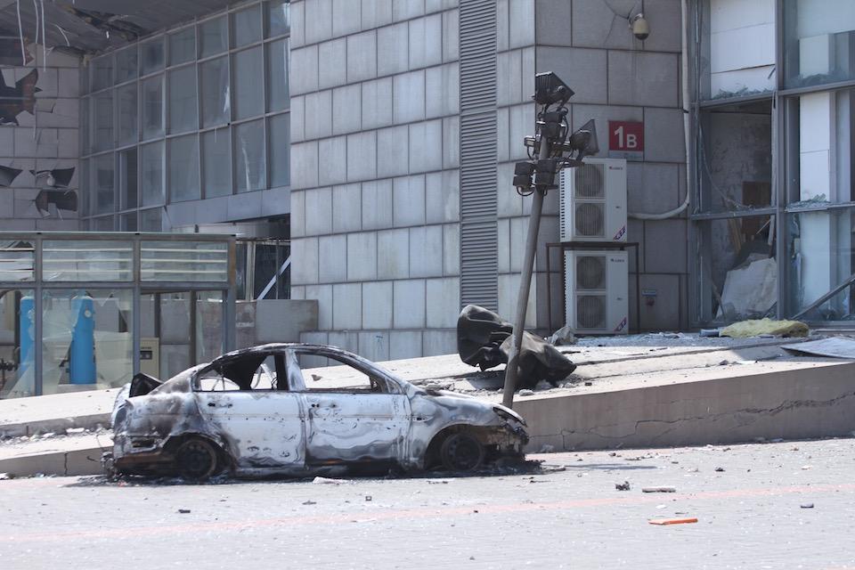 Tianjin explosion scene