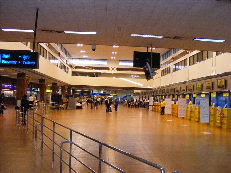 Domestic terminal Check-in at Don Mueang Airport in Bangkok