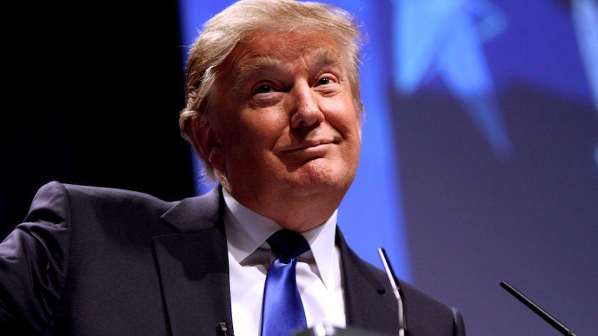 Donald Trump speaking at CPAC in Washington D.C.