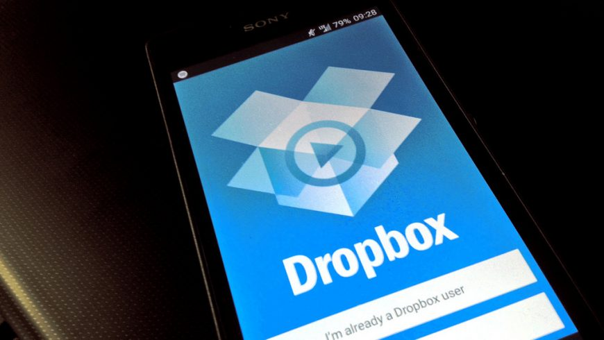 Dropbox on a smartphone device