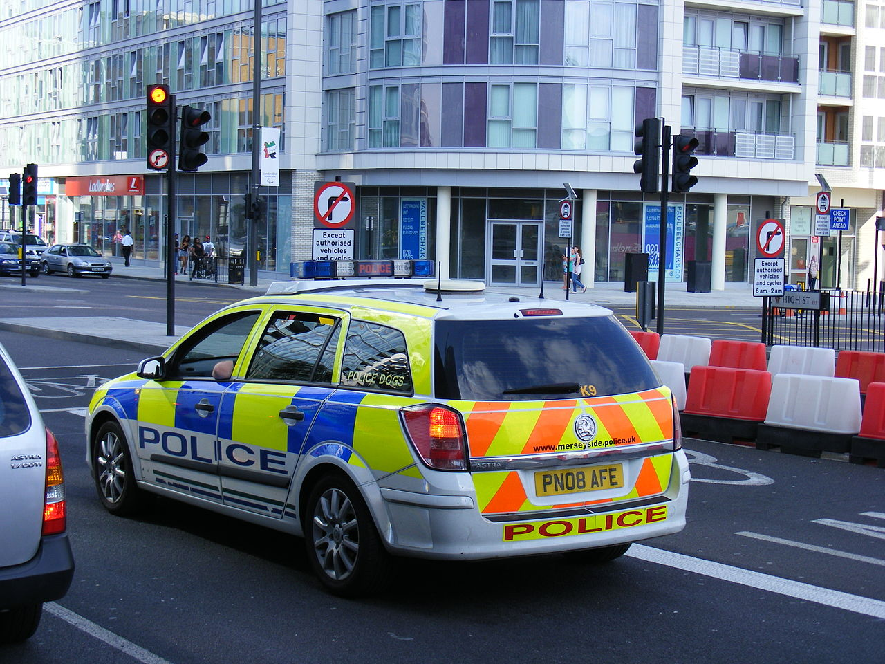 Merseyside Police car in London, UK