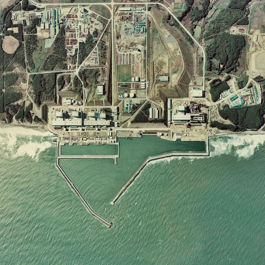 Aerial view of the Fukushima I plant area
