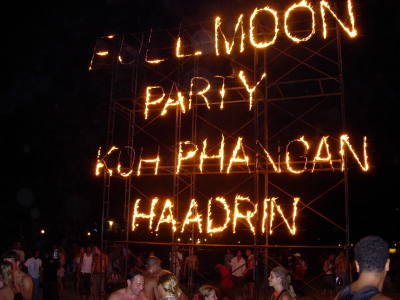 Full Moon Party at Haad Rin on the island of Koh Phangan, Thailand