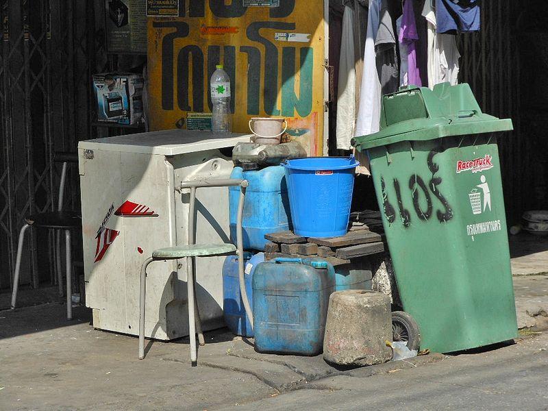 Trash bin in Bangkok