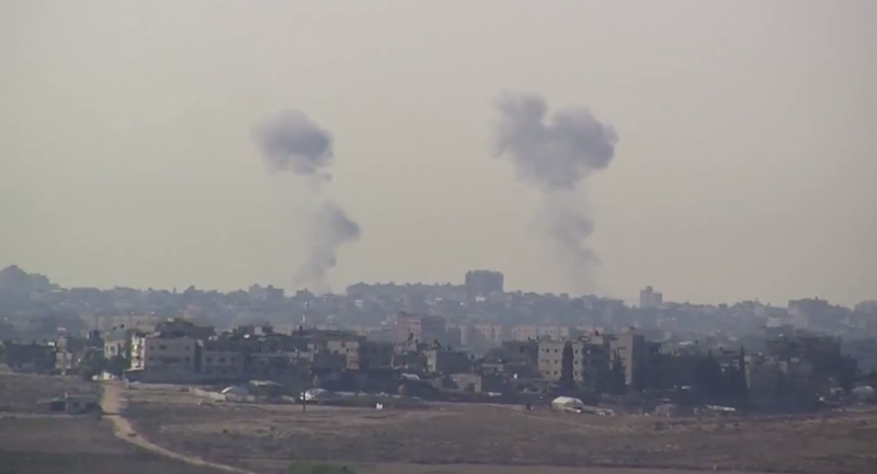 Smoke above Gaza Strip