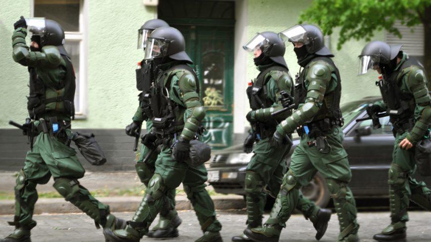 German police in Gotlandstrasse
