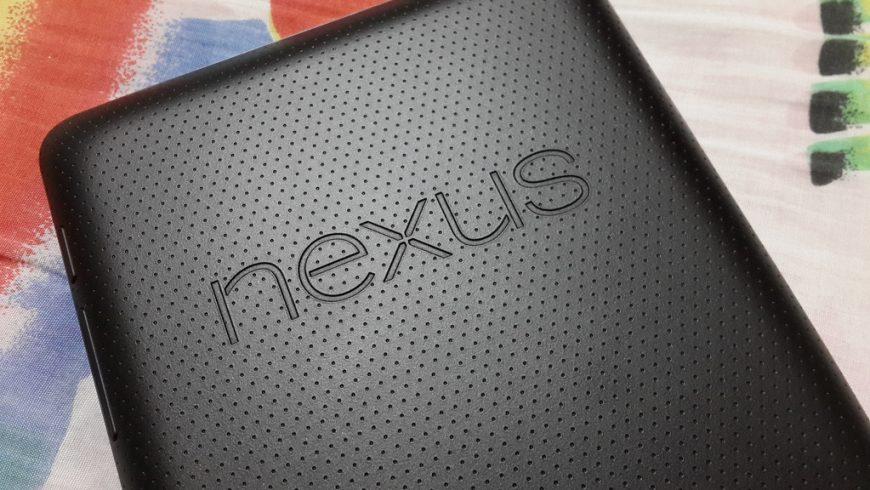 Rear side of Google Nexus 7 1st Generation
