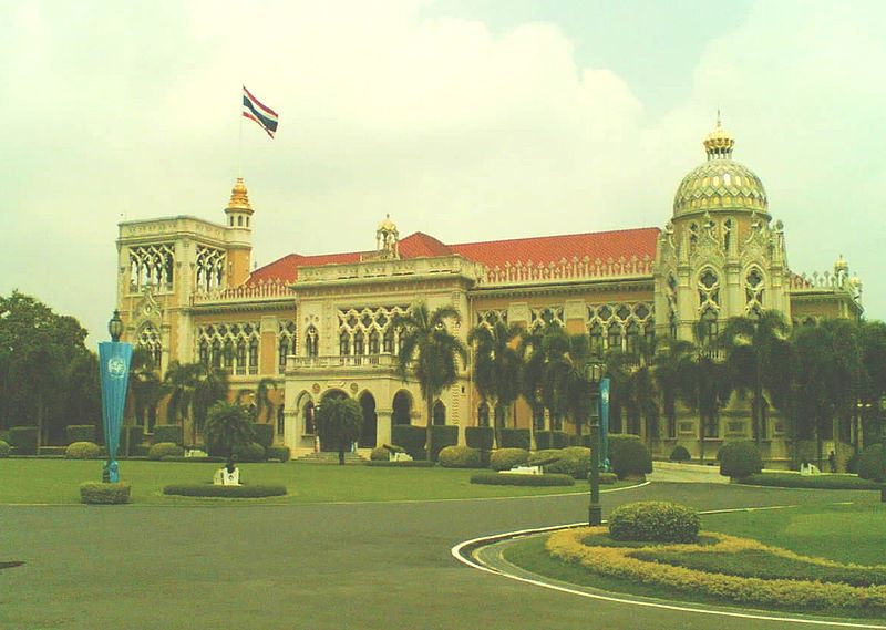 Main building of the Government House of Thailand (Thai-Khu-Fah Building)