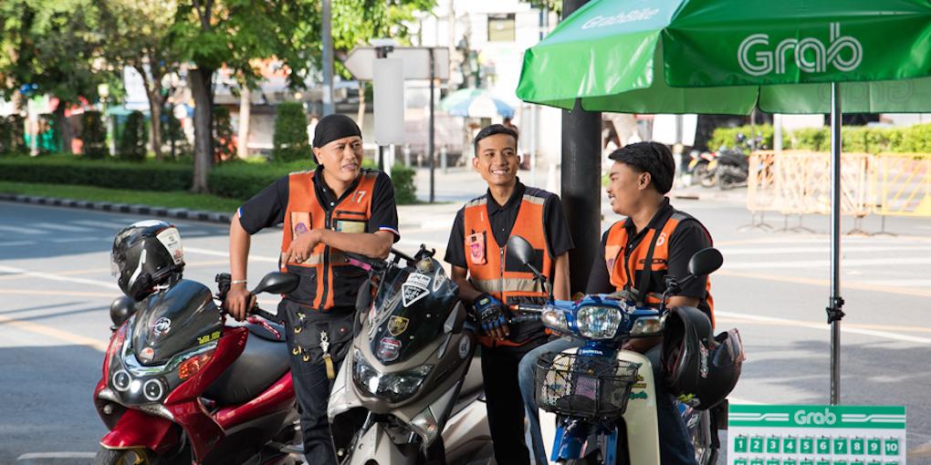 Grab launched GrabBike (Win) in Bangkok