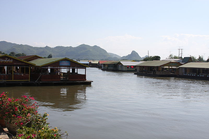 Tenasserim Hills and the Kwai river in Kanchanaburi