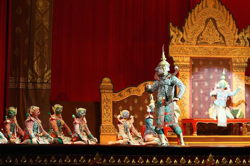 Khon performance at Thammasat University