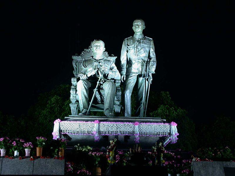 HM the King Bhumibol Adulyadej visits Maruekatayawan Palace