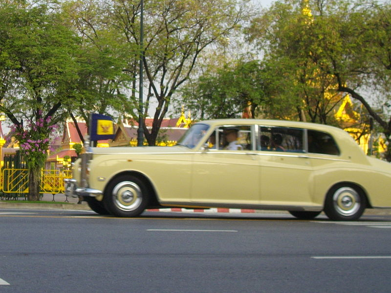 Royal car of HRH Crown Prince Maha Vajiralongkorn in 2012