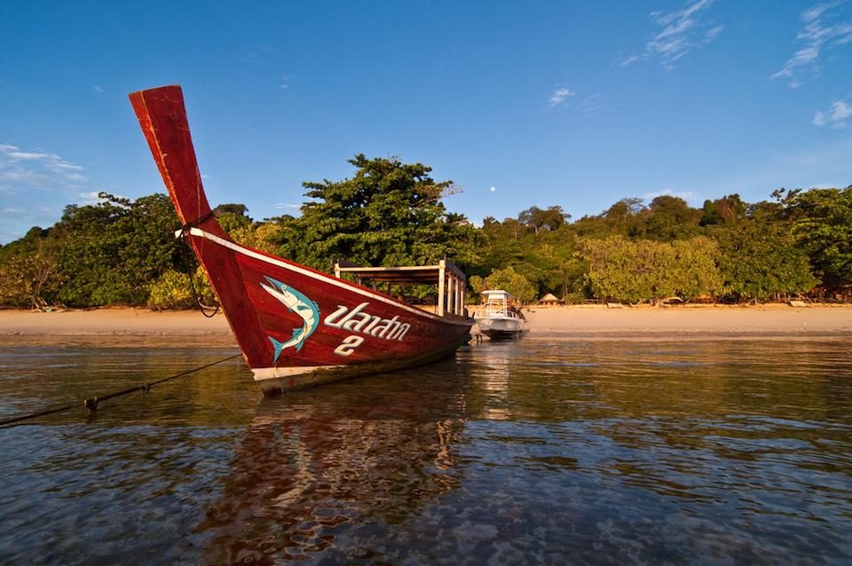 Boat sits in Koh Kradan, Trang