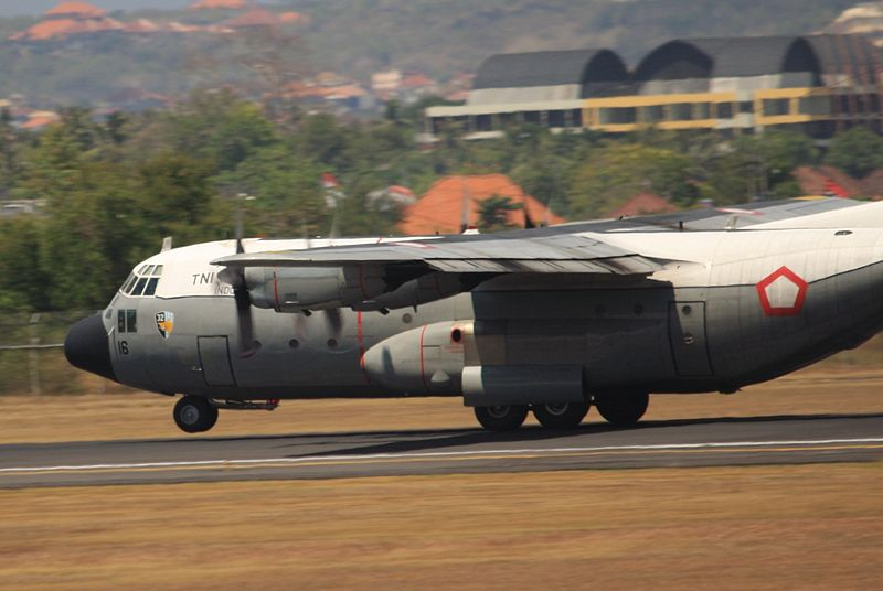 Lockheed Hercules A 1316 Indonesian Air Force plane