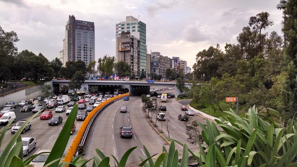Mexico City traffic jam