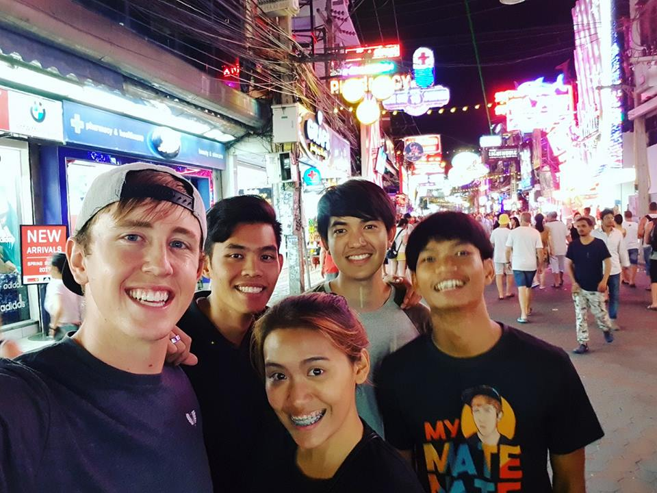 """American YouTuber """"My Mate Nate"""" and friends"""