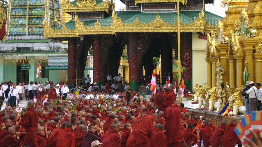 Monks Protesting in Burma