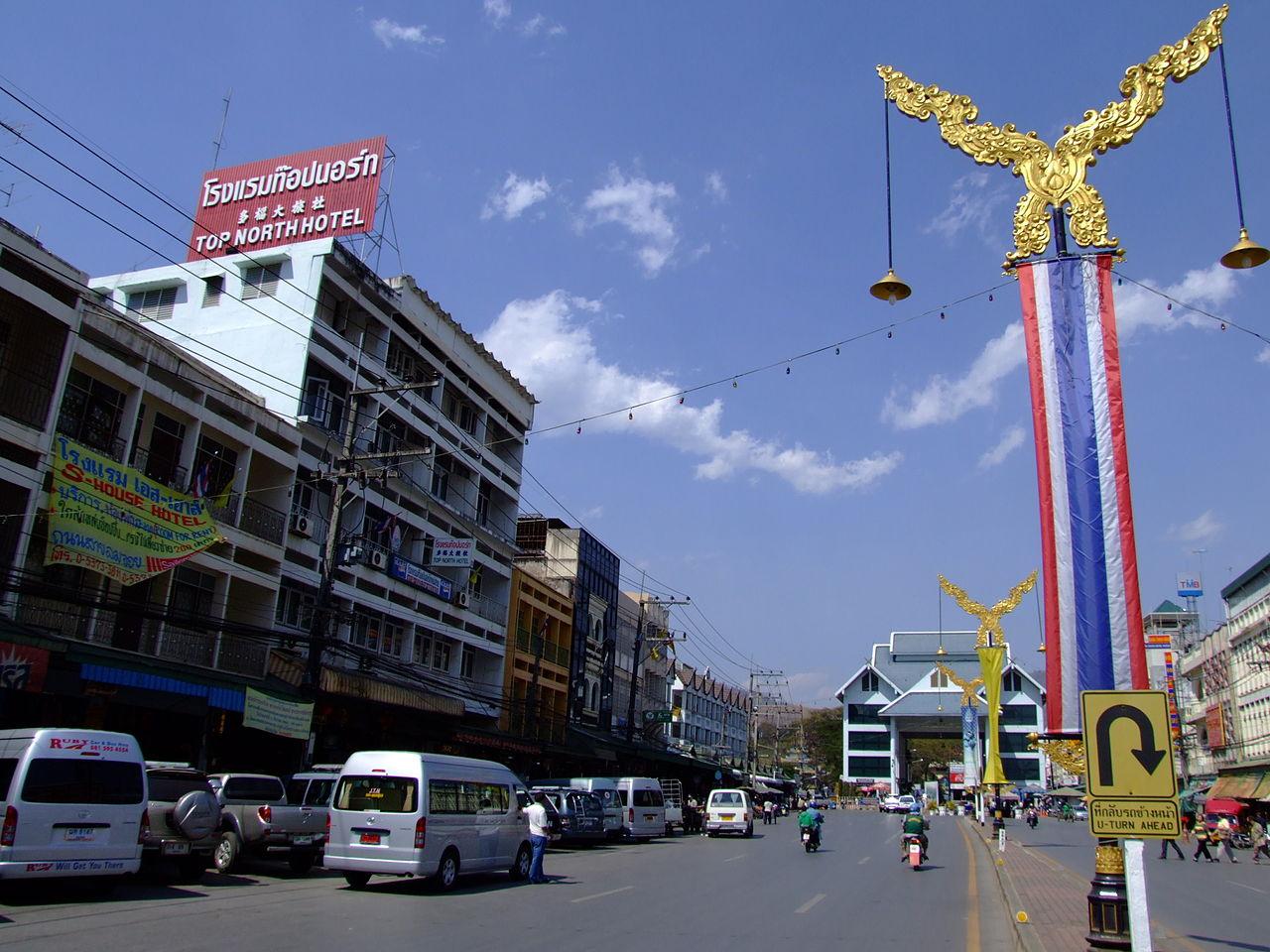 Road in Mae Sai, Chiang Rai
