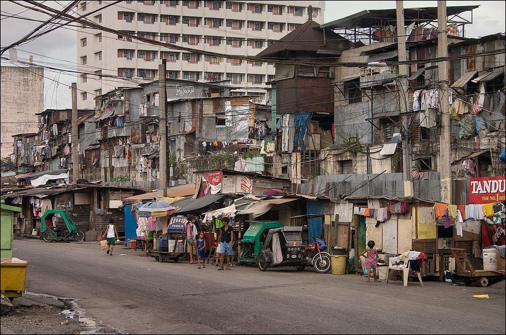 A suburb in Manila city, Philippines