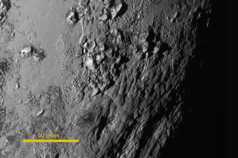Planet Pluto surface
