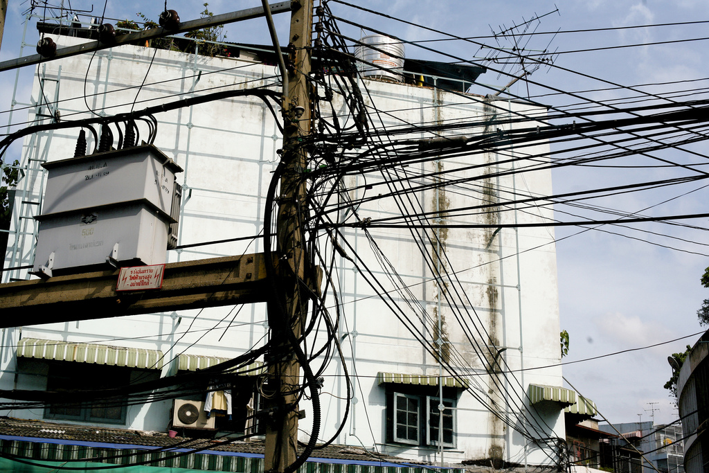 Power cables in Bangkok
