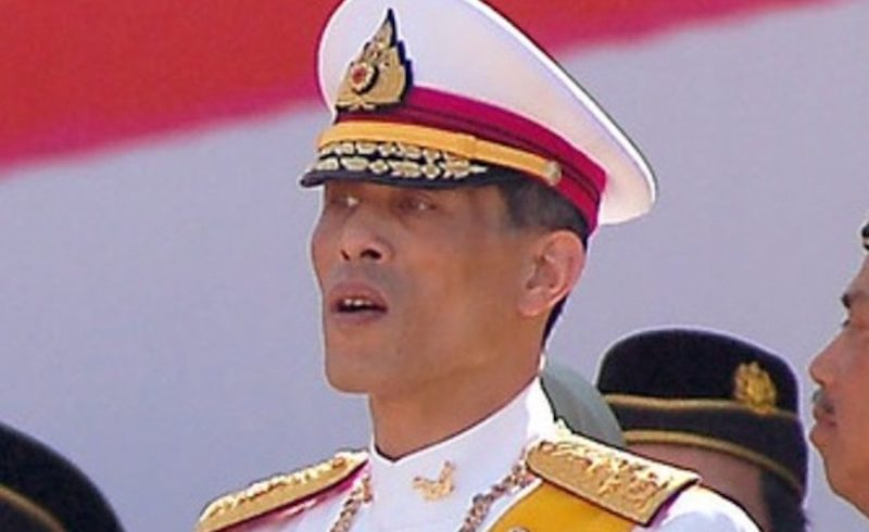 King Maha Vajiralongkorn at a ceremony in Bangkok