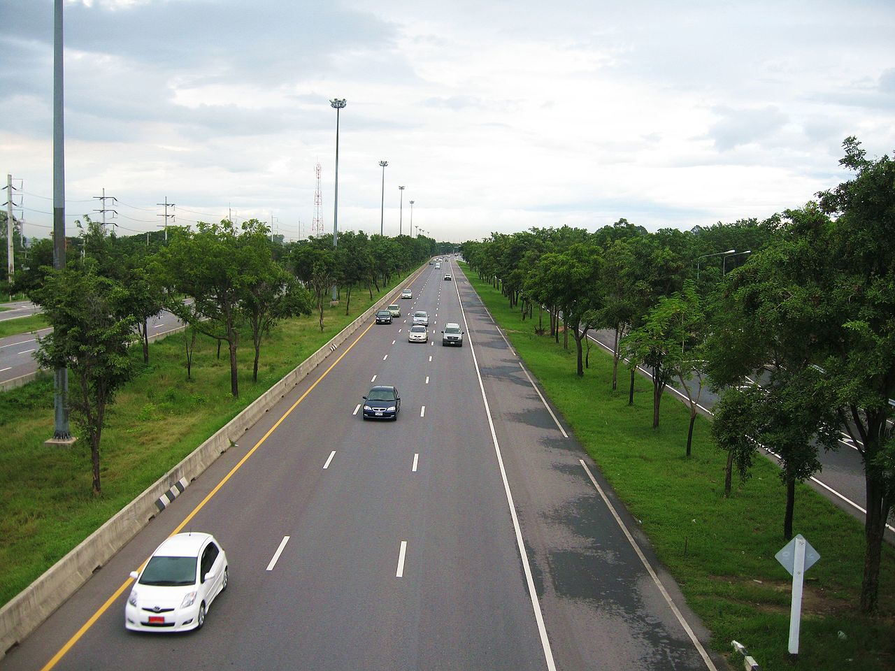 Highway in Singburi Province