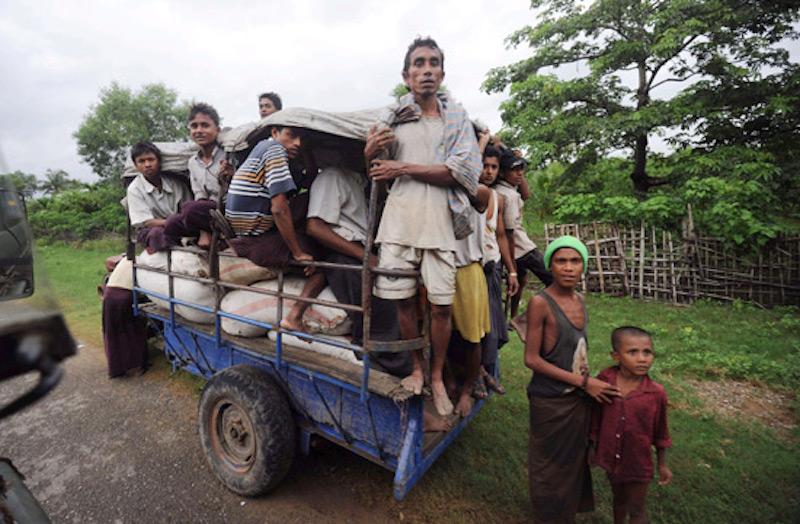 Rohingya men in Myanmar
