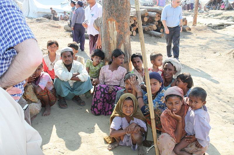 Rohingya people in Rakhine State, Myanmar