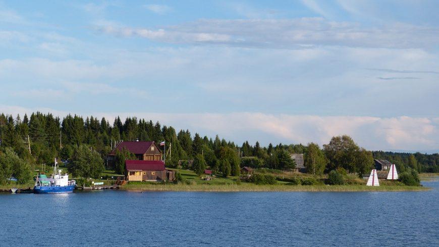 Lake Ladoga in Russia