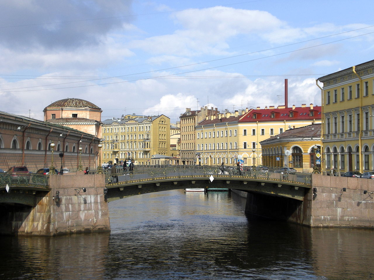 Bridge over a canal in St. Petersburg