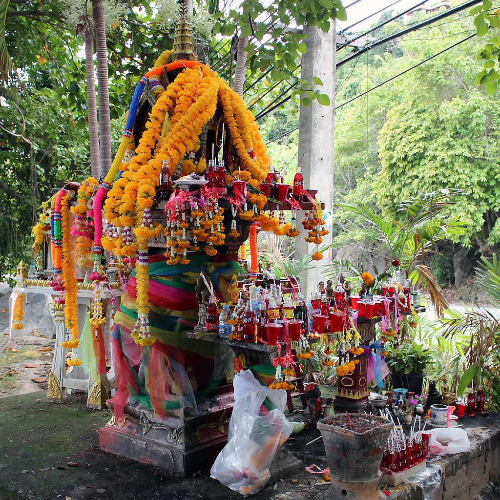 Spirit Houses in Chaweng Noi Viewpoint, Koh Samui
