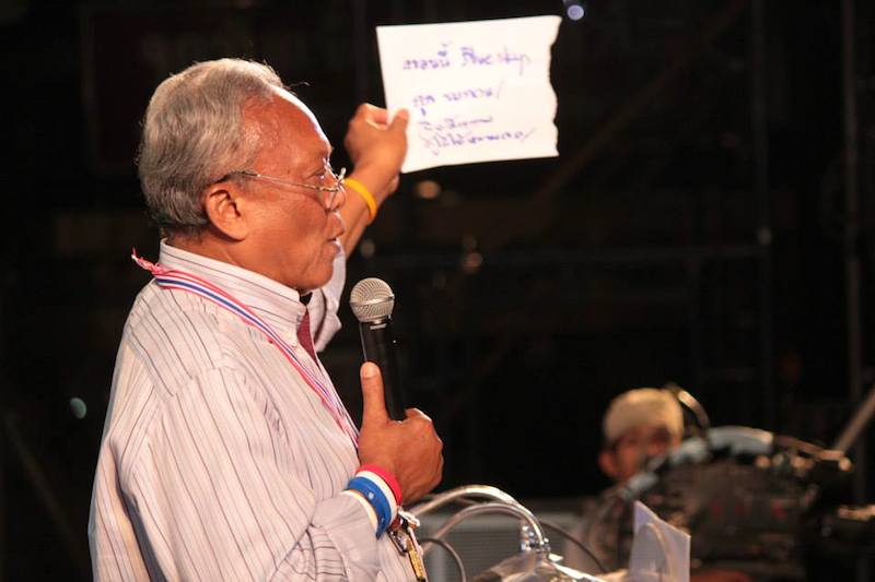 CAPO reveals court order to arrest protest leader Suthep