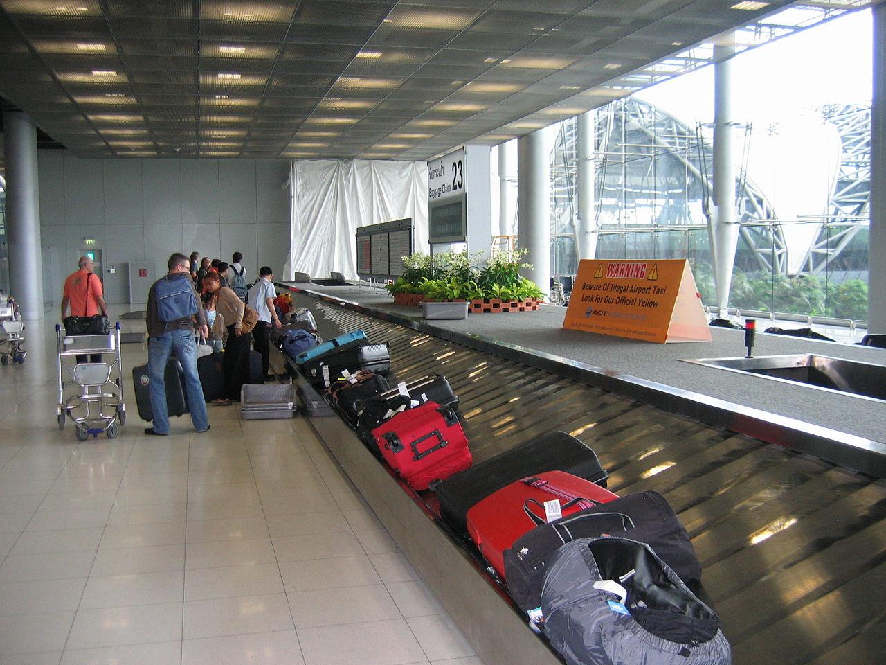 Baggage belt at Suvarnabhumi Airport