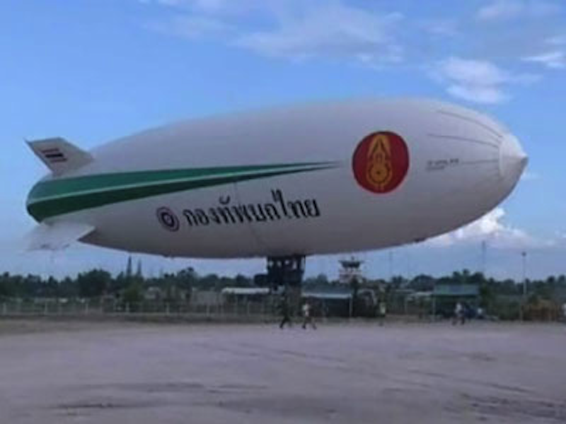 Army's 350 Mil Baht Airship Breaks Down Again After Re-launch