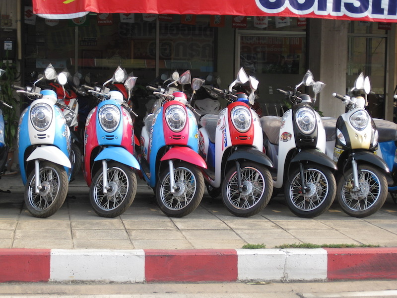Honda Scoopy scooters