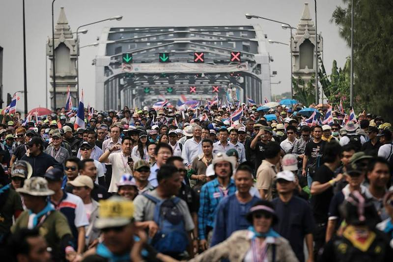 Anti-government protesters start Bangkok Shutdown