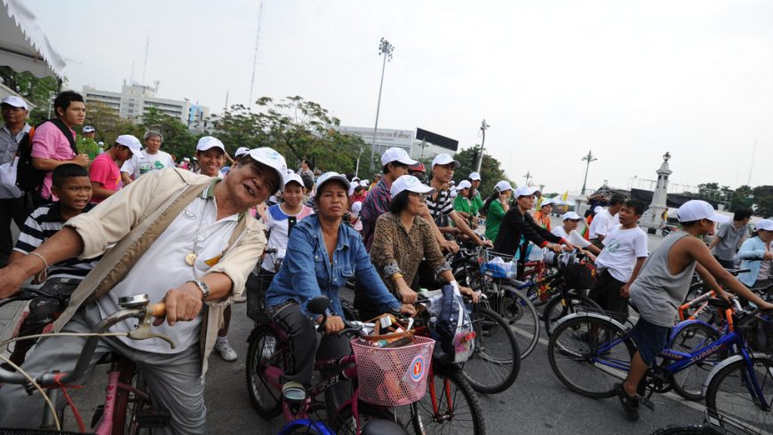 Members of Thailand Cycling Club gathering in Bangkok