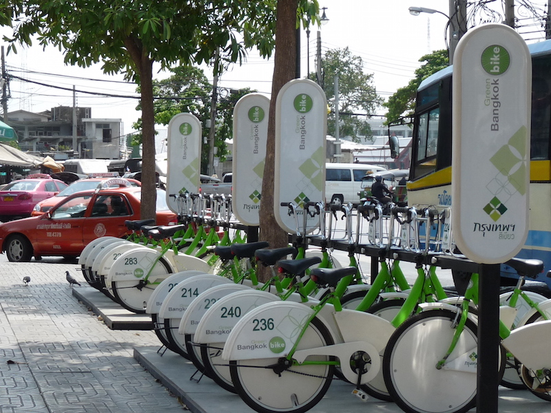 Bicycle sharing system in Bangkok
