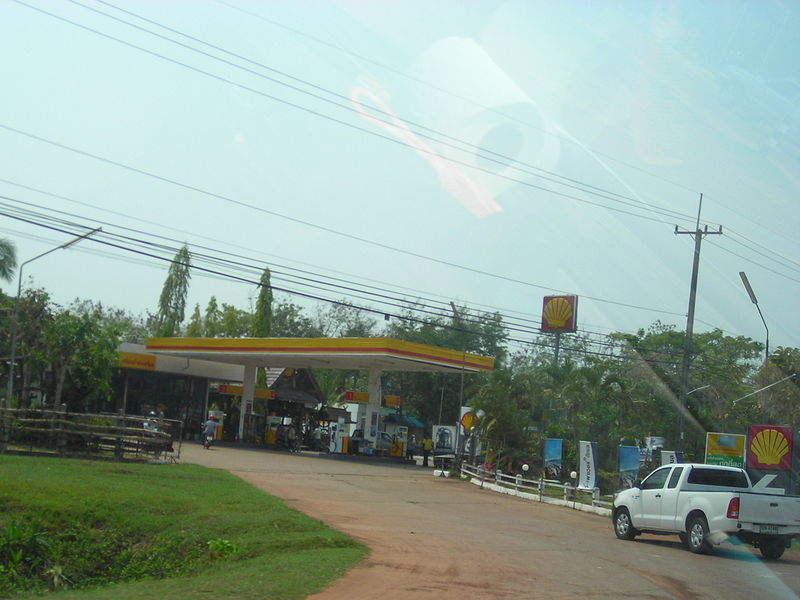 Shell gas station in Thailand