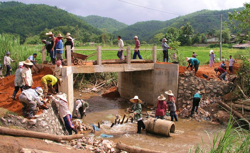 Construction workers in Chiang Rai