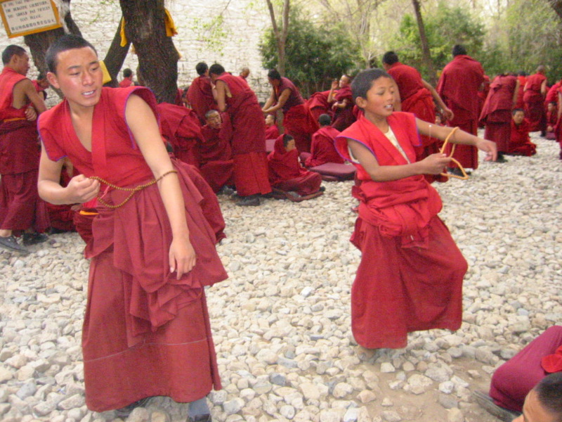 Tibetan Buddhist monks