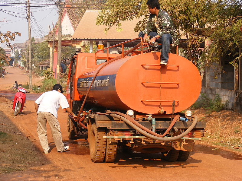 Tank truck in Udon Thani
